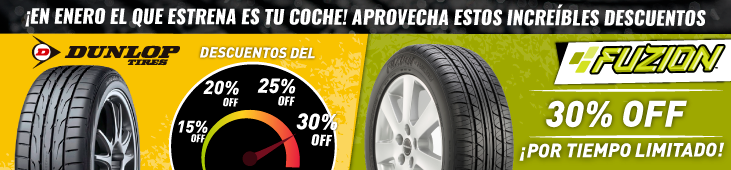 Fuzion Hasta 30% de Descuento-Dunlop 15%,20%,25%,30%