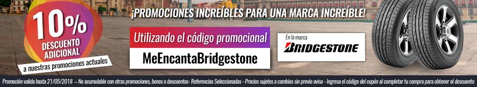 Promoción de la semana Bridgestone -10% Adicional