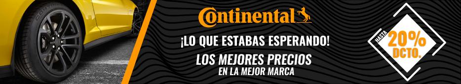 Continental hasta 20% de descuento