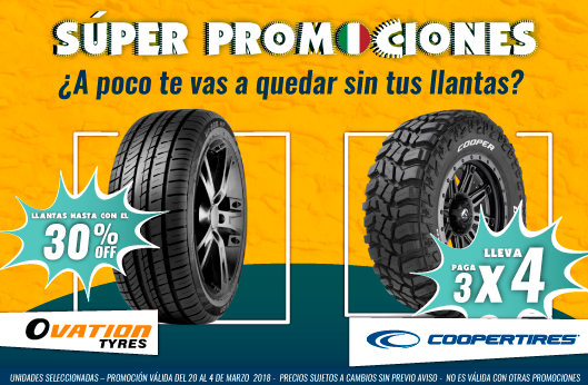 Ovation Cooper 35% OFF 3x4 | llantas baratas | llantas para coche | coches | las mejores llantas | llantas deportivas | llantas de alto rendimiento